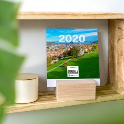 Kalender im Holzblock 2020